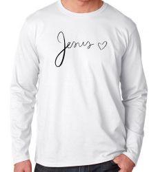 Camiseta Manga Longa Jesus coração