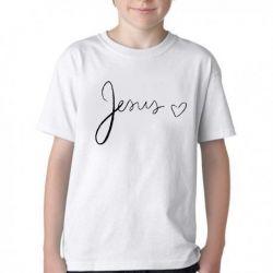 Camiseta Infantil Jesus coração