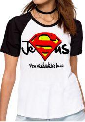Blusa Feminina Jesus verdadeiro Herói