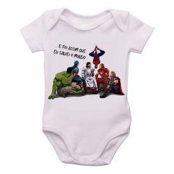 Roupa Bebê Jesus  foi assim que Eu salvei o mundo
