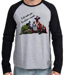 Camiseta Manga Longa Jesus  foi assim que Eu salvei o mundo