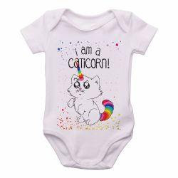 Roupa  Bebê I am a caticorn gato unicórnio