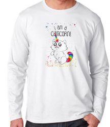 Camiseta Manga Longa I am a caticorn gato unicórnio