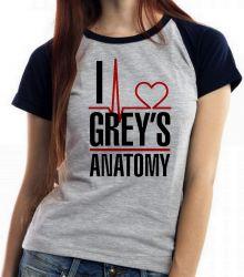 Blusa Feminina I love Greys Anatomy