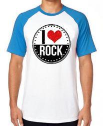 Camiseta Raglan I love rock