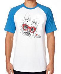 Camiseta Raglan I love yorkie