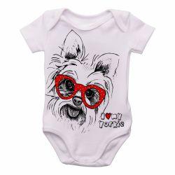 Roupa Bebê I love yorkie