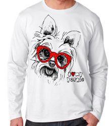 Camiseta Manga Longa I love yorkie