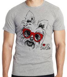 Camiseta Infantil I love yorkie