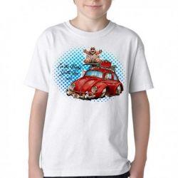 Camiseta  baby red fusca