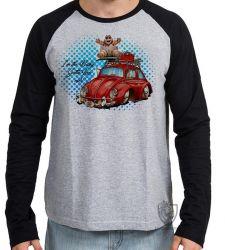 Camiseta Manga Longa baby red fusca
