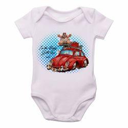 Roupa Bebê baby red fusca