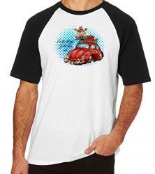 Camiseta Raglan baby red fusca