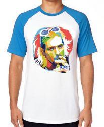 Camiseta Raglan Kurt Cobain nirvana