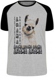 Camiseta Raglan lhama animal