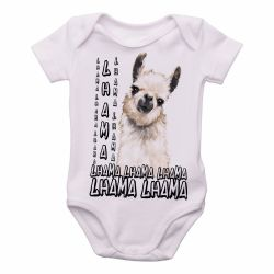 Roupa Bebê lhama animal