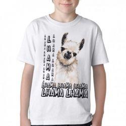 Camiseta Infantil lhama animal