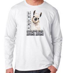 Camiseta Manga Longa lhama animal