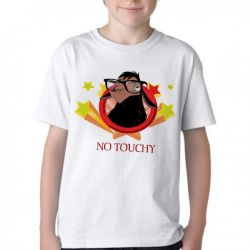 Camiseta Infantil Lhama No touchy