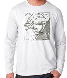 Camiseta Manga Longa Linhas férreas Rio Grande do Sul