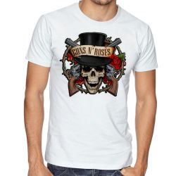 Camiseta Guns in Roses Caveira