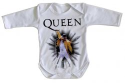 Roupa Bebê manga longa Queen Freddie Mercury