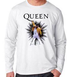 Camiseta Manga Longa Queen Freddie Mercury
