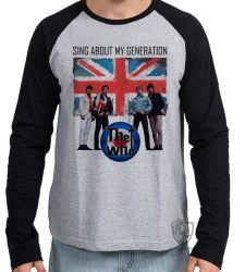 Camiseta Manga Longa The Who Banda