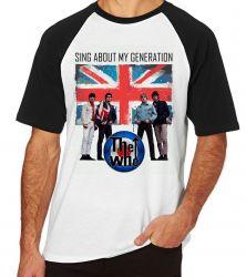 Camiseta Raglan The Who Banda