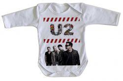 Roupa Bebê manga longa U2 Banda