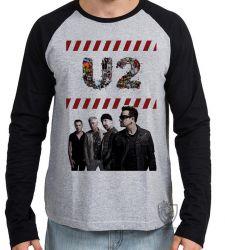 Camiseta Manga Longa U2 Banda