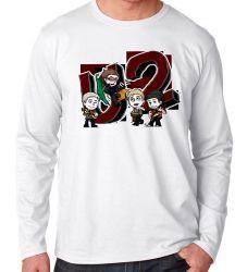 Camiseta Manga Longa U2 Desenho