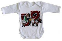 Roupa Bebê manga longa U2 Desenho