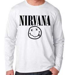 Camiseta Manga Longa Nirvana Carinha