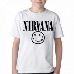 Camiseta Infantil Nirvana Carinha