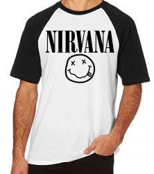 Camiseta Raglan Nirvana Carinha