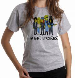 Blusa Feminina Simpsons Guns in Roses
