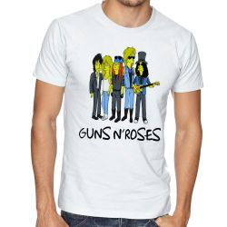 Camiseta Simpsons Guns in Roses
