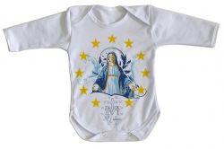 Roupa Bebê manga longa Nossa Senhora das Graças