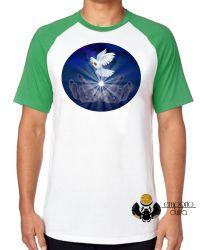 Camiseta Raglan Pomba da paz