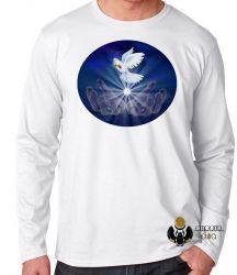 Camiseta Manga Longa Pomba da paz