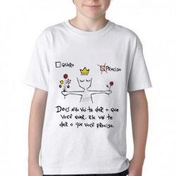 Camiseta Infantil Quero Preciso