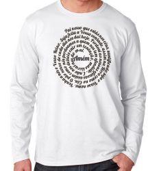 Camiseta Manga Longa Pai Nosso Oração
