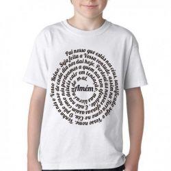 Camiseta Infantil Pai Nosso Oração