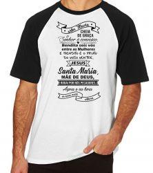 Camiseta Raglan Ave Maria Oração