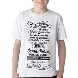 Camiseta Infantil Ave Maria Oração
