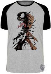 Camiseta Raglan Venom Groot