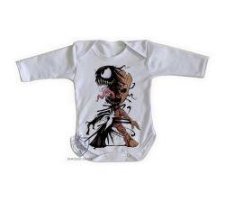 Roupa Bebê manga longa Venom Groot