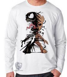 Camiseta Manga Longa  Venom Groot