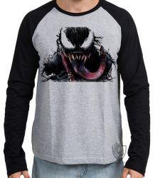 Camiseta Manga Longa  Venom Vilão